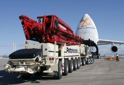 Máy bơm lớn nhất thế giới được gửi từ mỹ tới nhật xử lý hạt nhân