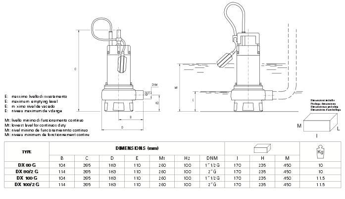 Máy bơm nước Pentax DPV Máy bơm nước Pentax DP Máy bơm nước Pentax DP kích thước