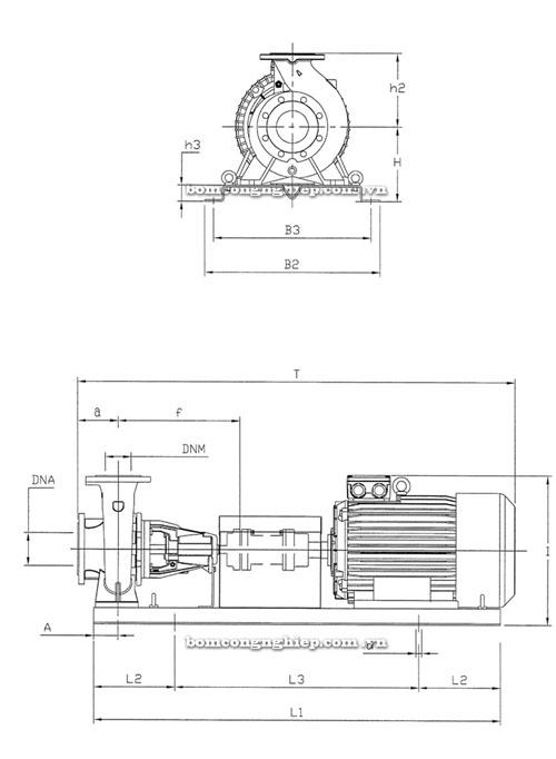 Máy bơm nước Pentax CA65-250 thông số kích thước
