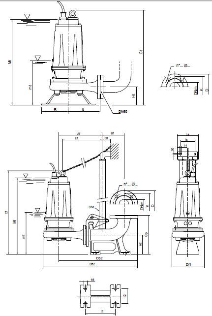 Máy bơm nước Pentax DTRT 400-1000-P kích thước