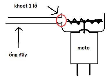 Chế máy bơm nước mini bước 6