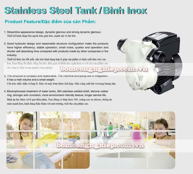 Máy bơm nước chân không Japan JLM80-800 đặc điểm sản phẩm