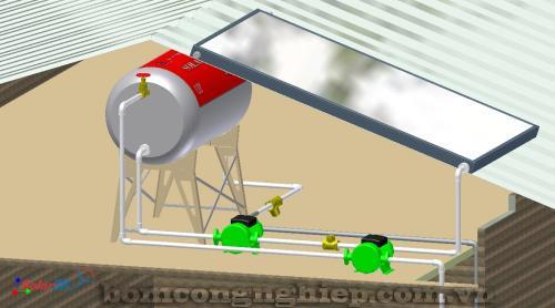 Lắp đặt 2 máy bơm nước tăng áp luân phiên