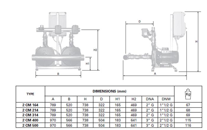 Pentax BOOSTER 2CMT bảng thông số kích thước