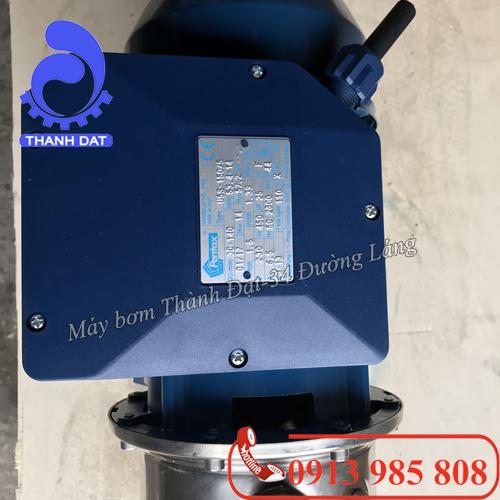 Máy bơm trục ngang đầu INOX Pentax MPX 120/5 1.2HP