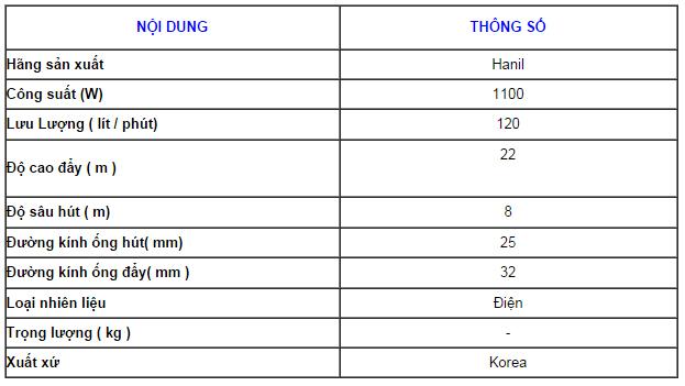 may-bom-hut-gieng-hanil-120-95-bang-thong-so-ky-thuat