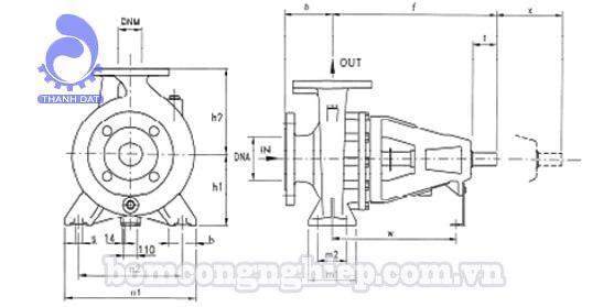 Đầu bơm trục rời Pentax CA 65-315BN