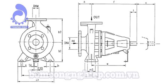 Đầu bơm trục rời Pentax CA 80-315BN